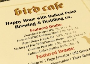 Ballast Point happy hour beer menu
