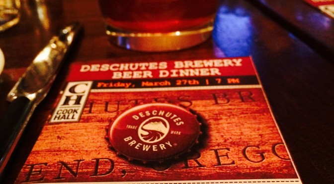 Cook Hall Beer Dinner featuring Deschutes Brewery