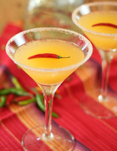 Bare Red Chili Martini